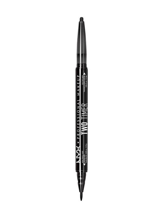 NYX Professional Makeup - Two Timer Dual Ended Eyelined -nestemäinen silmänrajauskynä - 01 JET BLACK | Stockmann - photo 1