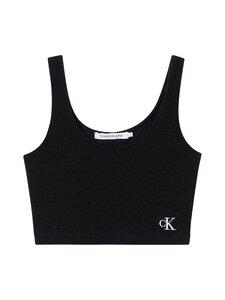 Calvin Klein Jeans - Slub Rib Cropped Strappy -toppi - BEH CK BLACK | Stockmann