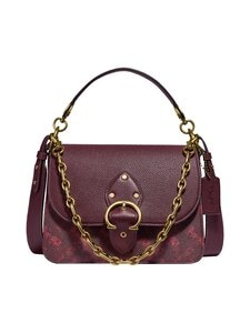 Coach - Beat Shoulder Bag With Horse And Carriage Print -nahkalaukku - B4RTQ B4/OXBLOOD CRANBERRY | Stockmann