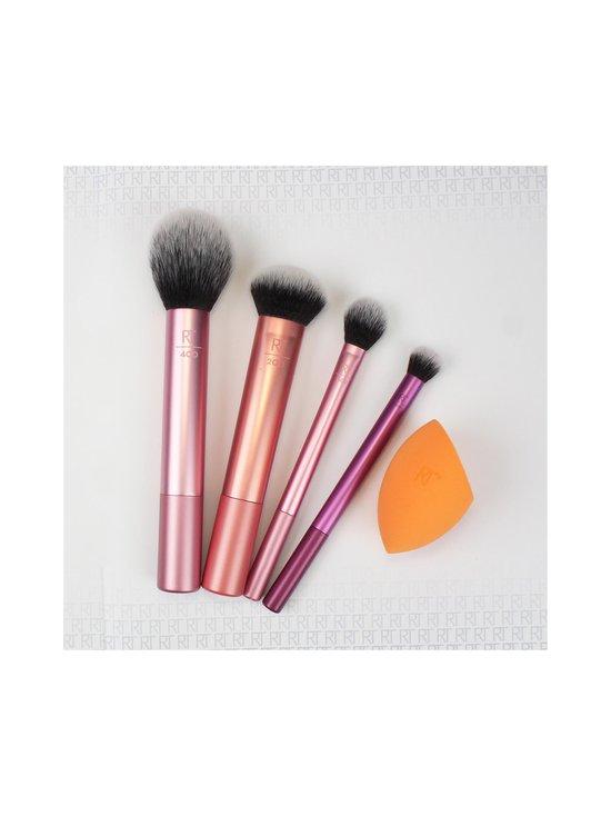 Real Techniques - Everyday Essentials Make Up Brush Set -sivellinsetti, 5 osaa - VAALEANPUNAINEN   Stockmann - photo 3