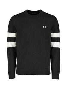 Fred Perry - Tipped Sleeve C/N Jumper -neule - BLACK | Stockmann