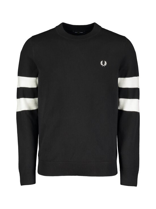 Fred Perry - Tipped Sleeve C/N Jumper -neule - BLACK | Stockmann - photo 1