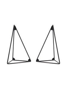 Maze - Pythagoras-hyllykiinnike, 2 kpl - MUSTA | Stockmann