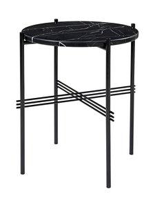 Gubi - TS Side Table -sohvapöytä ⌀ 40 cm - BLACK MARQUINA MARBLE | Stockmann