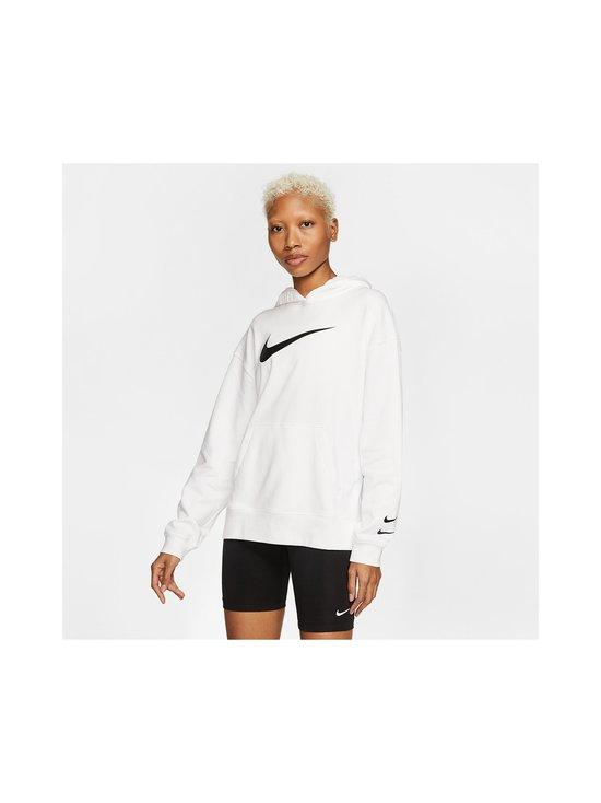 Nike - W Sportswear Swoosh Hoodie -huppari - 100 WHITE/BLACK | Stockmann - photo 3