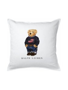 Ralph Lauren Home - Flag Sweater Bear Cushion Cover -tyynynpäällinen 50 x 50 cm - WHITE | Stockmann