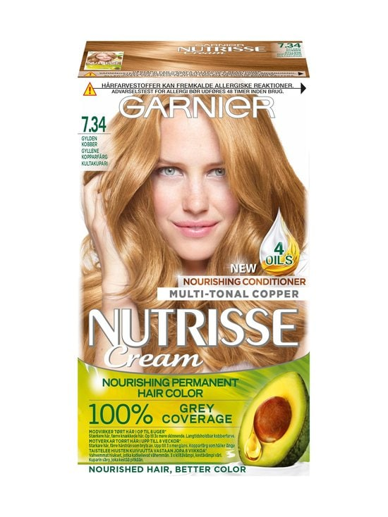 Garnier - Nutrisse Cream -hiusväri - 7.34 | Stockmann - photo 1