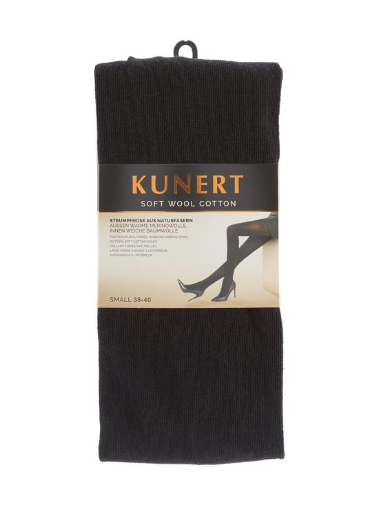 Kunert - Soft Wool Cotton -sukkahousut - MUSTA   Stockmann - photo 1