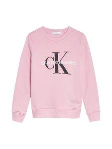 Calvin Klein Kids - Unisex Organic Cotton Logo Sweatshirt -collegepaita - TPH ROSE MARBLE | Stockmann
