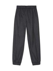 Ganni - Wool Suiting Elasticated Pants -villasekoitehousut - PHANTOM   Stockmann