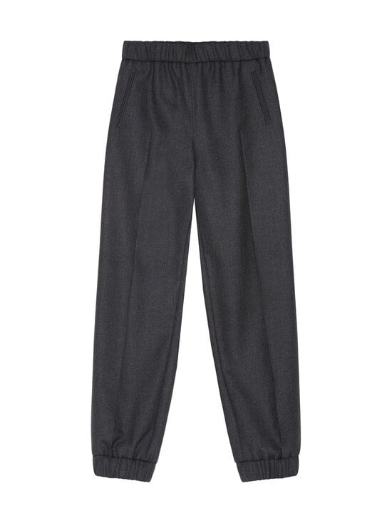 Ganni - Wool Suiting Elasticated Pants -villasekoitehousut - PHANTOM | Stockmann - photo 1
