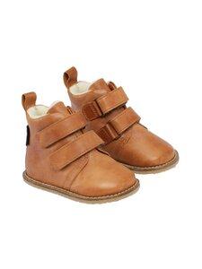 Bundgaard - Orla Velcro TEX Barefoot shoe with wool lining -nahkakengät - 217 TAN WS | Stockmann