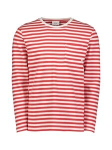 Makia - Verkstad Long Sleeve -paita - 458 RED-WHITE | Stockmann
