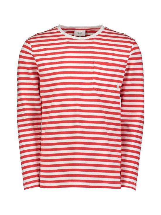 Makia - Verkstad Long Sleeve -paita - 458 RED-WHITE   Stockmann - photo 1