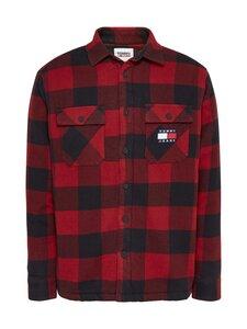 Tommy Jeans - Tjm Sherpa Flannel Overshirt -paita - XLK WINE RED / BLACK | Stockmann