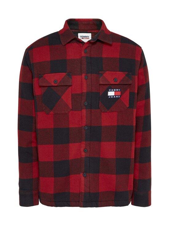Tommy Jeans - Tjm Sherpa Flannel Overshirt -paita - XLK WINE RED / BLACK | Stockmann - photo 1