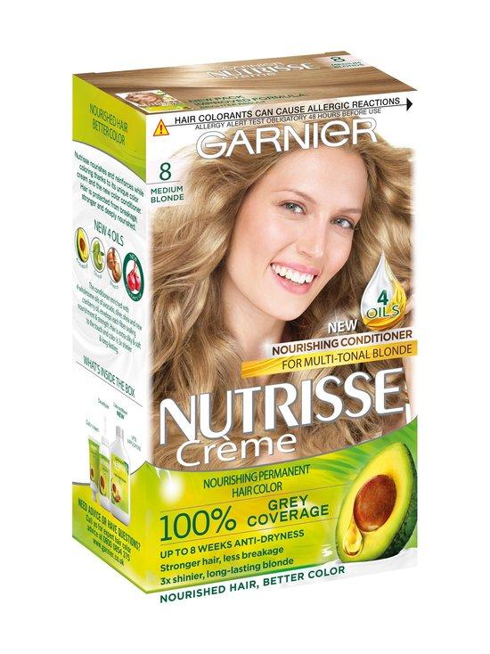 Garnier - Nutrisse Cream -hiusväri - 8.0 MEDIUM BLONDE | Stockmann - photo 1