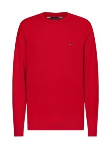 Tommy Hilfiger - Organic Cotton Blend Crew Neck -neule - XLG PRIMARY RED | Stockmann