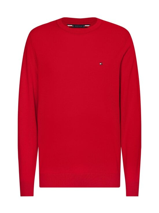 Tommy Hilfiger - Organic Cotton Blend Crew Neck -neule - XLG PRIMARY RED | Stockmann - photo 1
