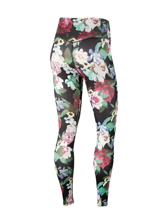 Nike - One Floral 7/8 Leggings -treenitrikoot - 010 BLACK/METALLIC SILVER | Stockmann - photo 2