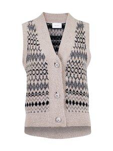 Neo Noir - Soella Stitch Knit Waistcoat -neuleliivi - BEIGE 123 | Stockmann