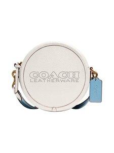 Coach - Kia Circle Bag In Colorblock -nahkalaukku - B4/CHALK MULTI | Stockmann