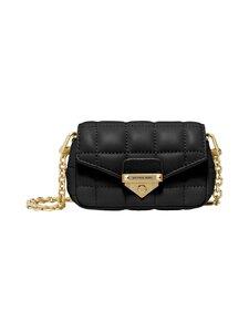 Michael Michael Kors - Soho XS Quilted Leather Bag Charm -nahkalaukku - 001 BLACK | Stockmann