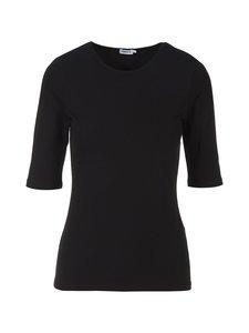 Filippa K - Cotton Stretch Elbow Sleeve -paita - BLACK | Stockmann