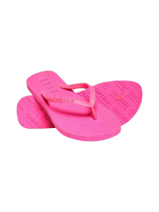 Superdry - Super Sleek Fluoro Flip Flop -varvassandaalit - 28R FLURO PINK | Stockmann - photo 1