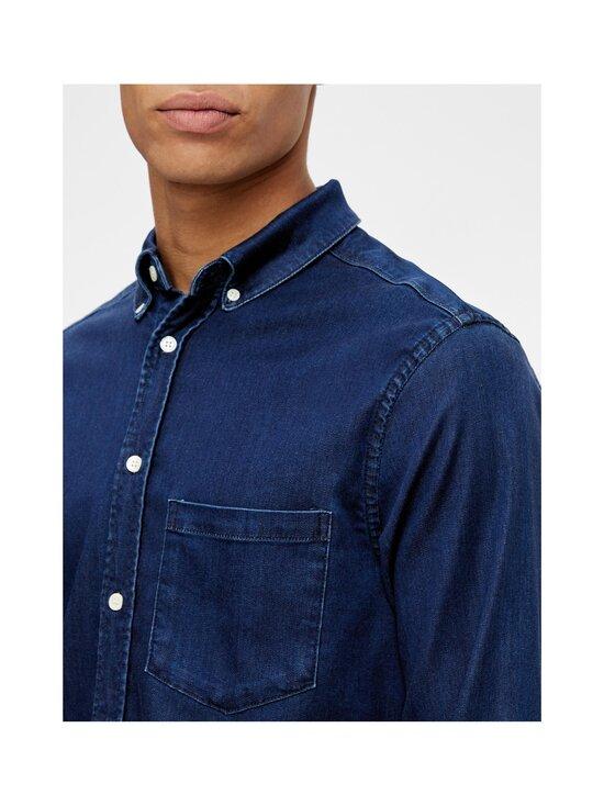 J.Lindeberg - Indigo Soft Stretch Slim Shirt -kauluspaita - 6194 MID BLUE | Stockmann - photo 6