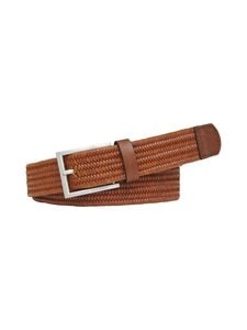 Tommy Hilfiger - Woven Leather Belt -nahkavyö - GB8 COGNAC | Stockmann