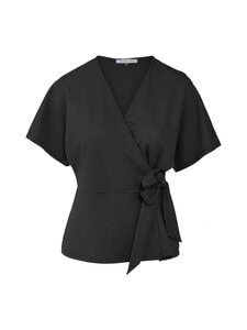 cut & pret - Tessa Wrap Jersey Top cut -paita - BLACK | Stockmann