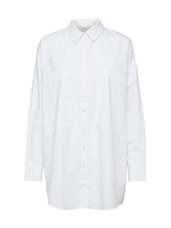 Selected - SlfLali LS Pocket Shirt -paitapusero - BRIGHT WHITE | Stockmann - photo 1
