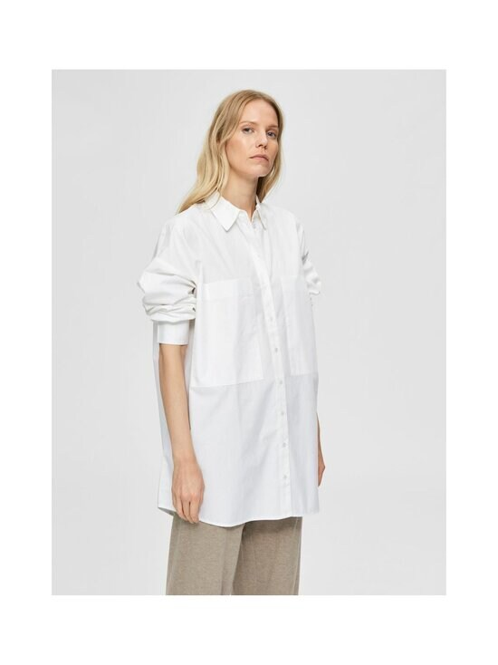 Selected - SlfLali LS Pocket Shirt -paitapusero - BRIGHT WHITE | Stockmann - photo 3