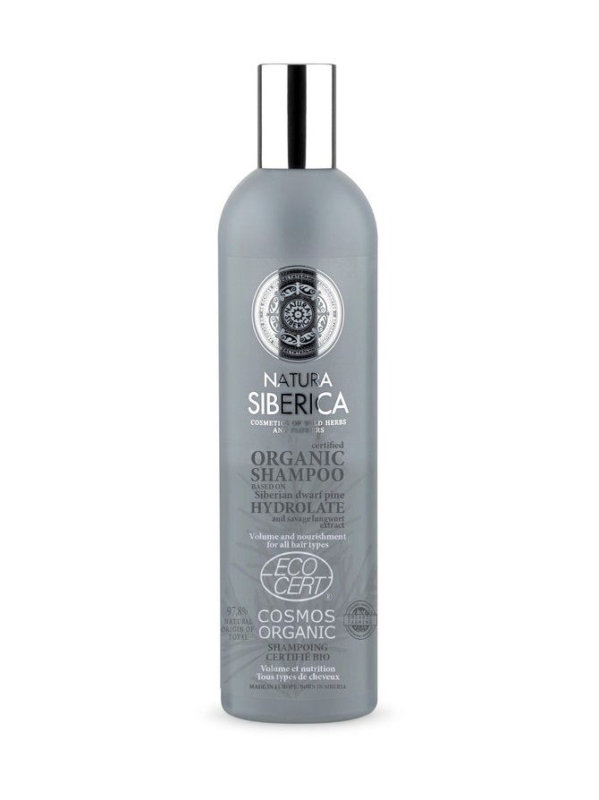 Certified Organic Shampoo Volume and Nourishment for All Hair Types -shampoo 400 ml