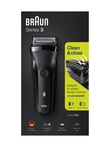 Braun - Series 3 300s -parranajokone - BLACK | Stockmann
