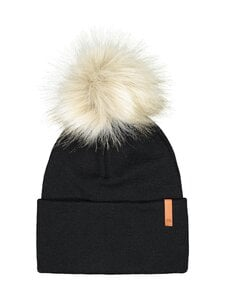 Metsola - Folded Beanie FUR -pipo - 70 BLACK | Stockmann