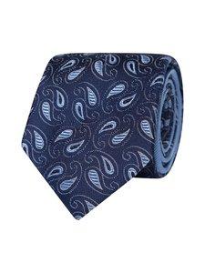 Tommy Hilfiger Tailored - Paisley Design Pure Silk Tie -silkkisolmio - 0YD NAVY/LIGHTBLUE/WHITE | Stockmann