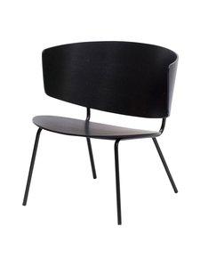 Ferm Living - Herman Lounge -tuoli - BLACK | Stockmann