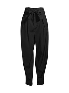 RED Valentino - Viscose Wool Gabardine Belted Pants -housut - 0NO BLACK | Stockmann