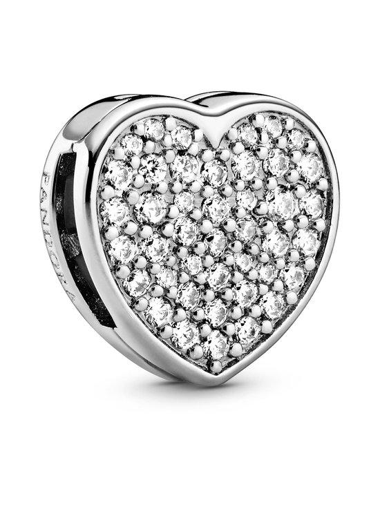 Pandora - Pavé Heart Clip-hela - 798684C01 CLEAR | Stockmann - photo 1