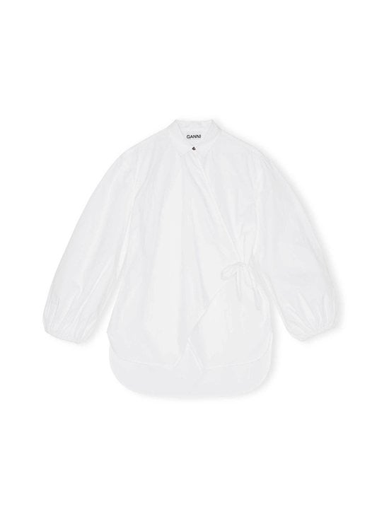 Ganni - Cotton Poplin -paita - BRIGHT WHITE 151 | Stockmann - photo 1