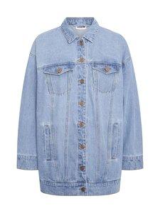 Noisy may - NmFiona L/S Denim Jacket -farkkutakki - LIGHT BLUE DENIM | Stockmann