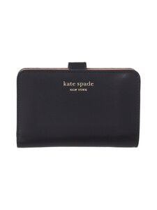 kate spade new york - Spencer Compact Wallet -nahkalompakko - BLACK | Stockmann