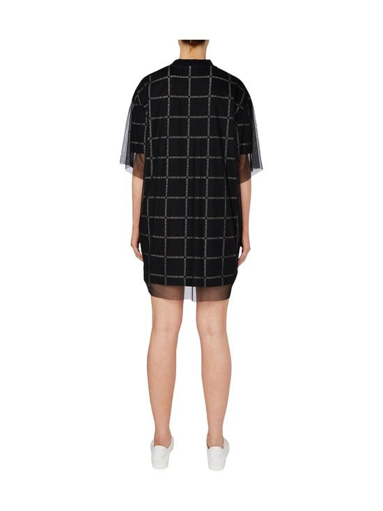 Calvin Klein Jeans - Grid All Over Logo Mesh -mekko - BAE CK BLACK | Stockmann - photo 3