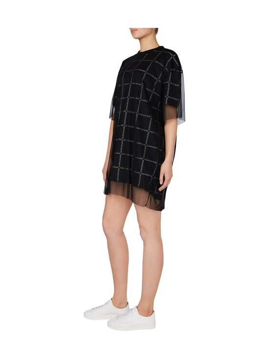 Calvin Klein Jeans - Grid All Over Logo Mesh -mekko - BAE CK BLACK | Stockmann - photo 4