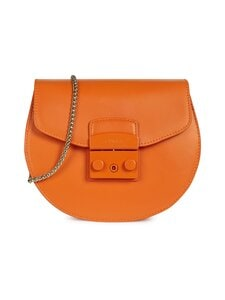 Furla - Metropolis Mini Crossbody Round -nahkalaukku - BG600 ORANGE I | Stockmann