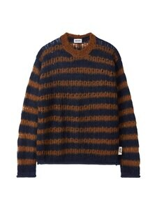 Kenzo - Oversized Striped Jumper -neule - 76 - STRIPED MOHAIR WOOL BLEND - NAVY BLUE | Stockmann