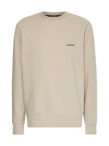Calvin Klein Menswear - Small Chest Logo Sweatshirt -collegepaita - AEV BLEACHED STONE   Stockmann