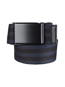 SDLR - Filipstad Striped Textile -vyö - 0460 BLUE/BLACK   Stockmann
